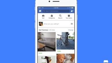 La aplicaci�n Marketplace de Facebook.