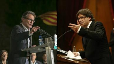 El 'expresident' Artur Mas y el 'president' Carles Puigdemont.