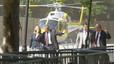 Mig Govern ha arribat al Parlament en helicòpter pel bloqueig dels indignats