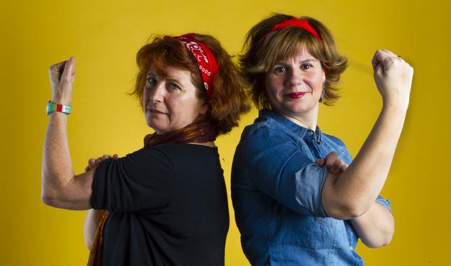 Esther Quevedo (izquierda) y Mónica Vázquez.