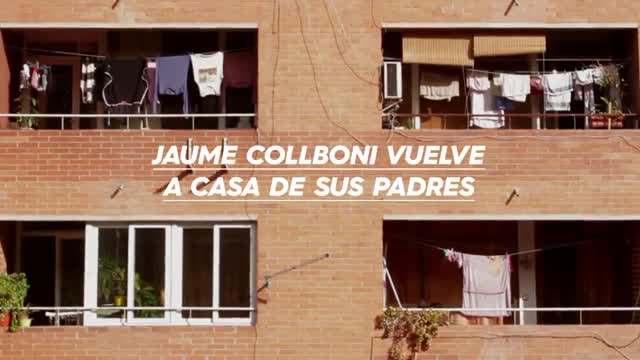 Jaume Collboni torna a casa dels seus pares per a la videocampanya de Barcelona