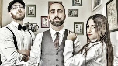Los barberos de 'La barbería de Diego'.