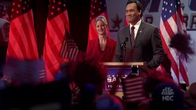Jimmy Smits y Teri Polo en un fotograma de la s�ptima y �ltima temporada de la serie 'El ala oeste de la Casa Blanca'.