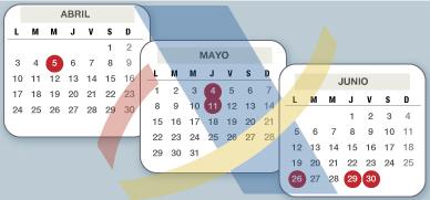 Las fechas clave de la renta 2016