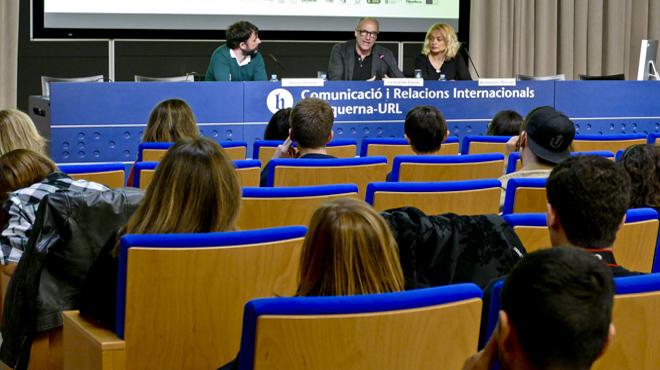 Los guionistas de 'Gomorra' imparten una 'masterclass' en la Facultad Blanquerna