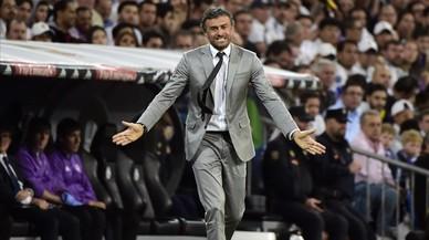 Luis Enrique, en el Bernabéu.