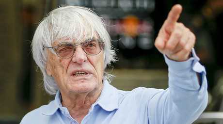 El magnate brit�nico y patr�n de la F-1, Bernie Ecclestone