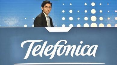 El presidente de Telefonica, José María Álvarez-Pallete, en la junta general de accionistas de mayo pasado.