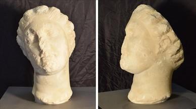 Descobert un cap romà de marbre a Caldes de Montbui