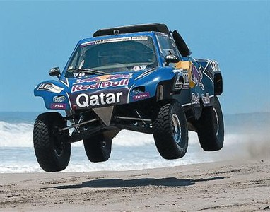 Sainz, durante la etapa de ayer de la prueba.
