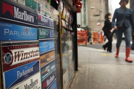 Punt de venda de tabac a Nova York, en una imatge d'arxiu.