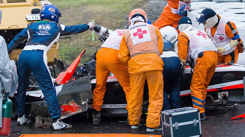 Grave accidente de Bianchi en Suzuka