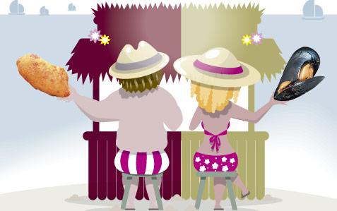 La 'dieta de chiringuito' de verano