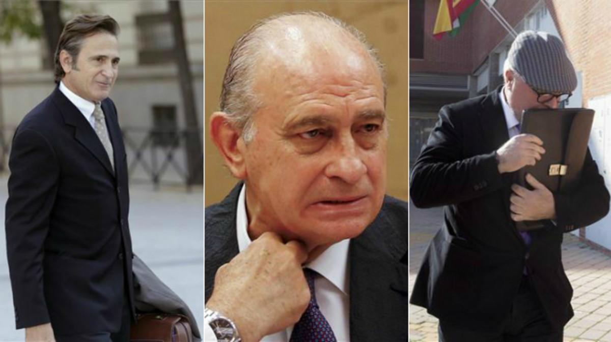 Combo Josep Pujol Ferrusola, Jorge Fernández Díaz y José Villarejo