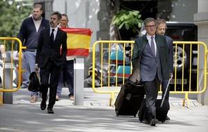 Jordi Pujol Ferrusola acude a declarar a la Audiencia Nacional el pasado martes, antes de ser enviado a prisión.