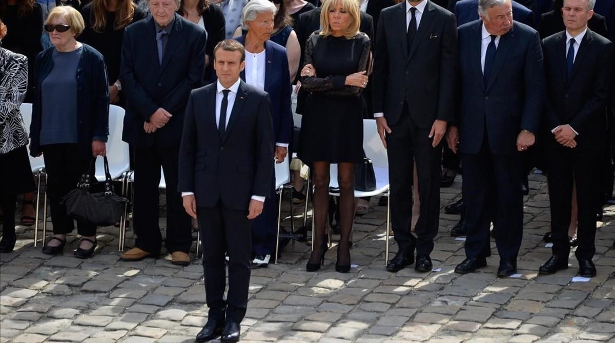 Macron, en el homenaje en Los Inválidos.