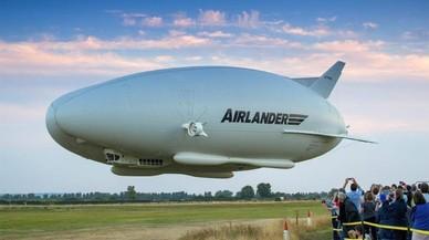 El Airlander 10, en pleno vuelo.