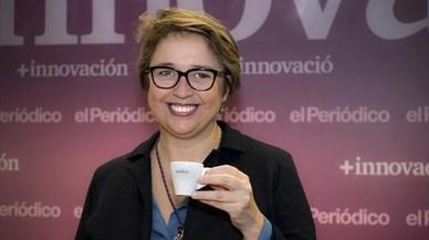 DIRECTIVA.Dolors Novell, gerente de Cafès Novell, en la redacción de EL PERIÓDICO.