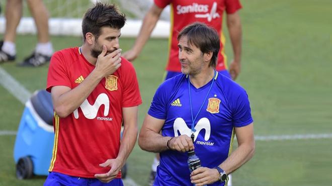 """Lopetegui, a Piqué: """"Això et pot fer mal"""""""