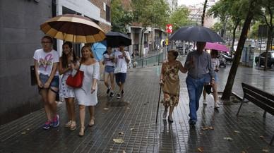 Els temporals i el fort vent castiguen el litoral català