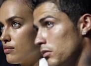 Irina y Cristiano, en un sorteo de la Champions en el 2012, cuando eran novios