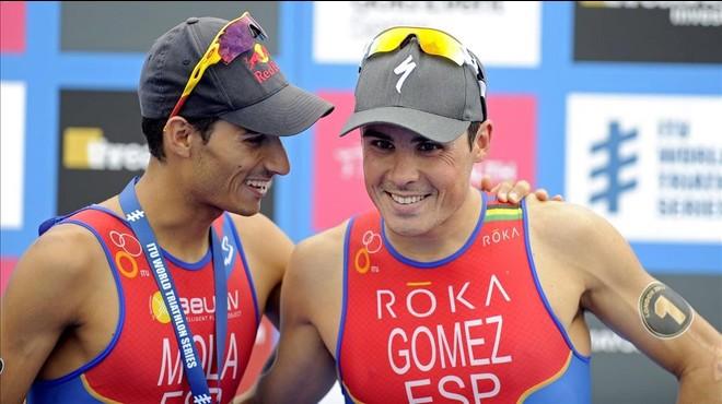 Mario Mola y Javier G�mez Noya, dos de los favoritos en triatl�n.