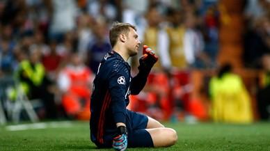 Neuer va encaixar el tercer gol blanc amb el peu trencat