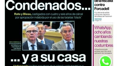 Rato i Blesa releguen Urdangarin, la purga fiscal i Forcadell en el guirigall judicial del dia