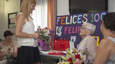 Felipa Chávez, la dona de Rubí que ha rebut la medalla centenària de la Generalitat