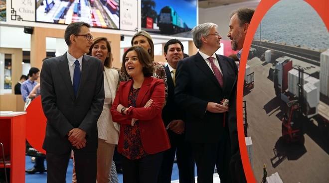 Soraya Sáenz de Santamaría y Jordi Cornet en la clausura del SIL.