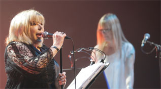 Marianne Faithfull, durante su actuacin en el Primavera Sound.
