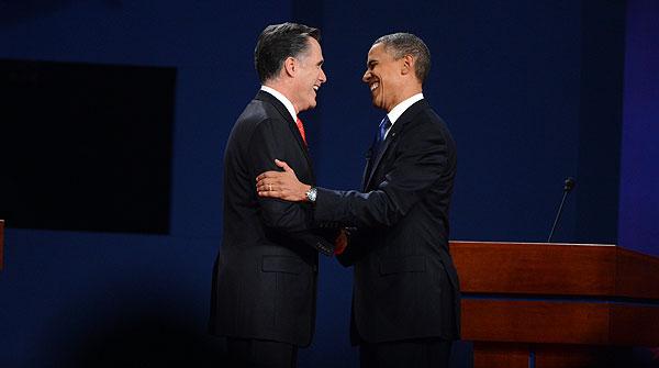 El primer debate electoral en Estados Unidos entre Romney y Obama
