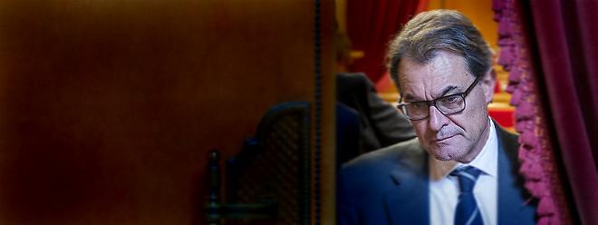 El 'president', Artur Mas, en el Parlament.