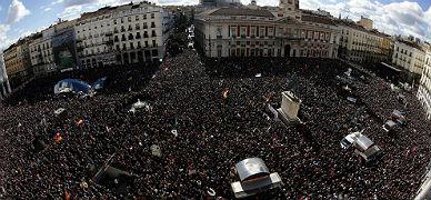 Aspecto de la Puerta del Sol, esta ma�ana.