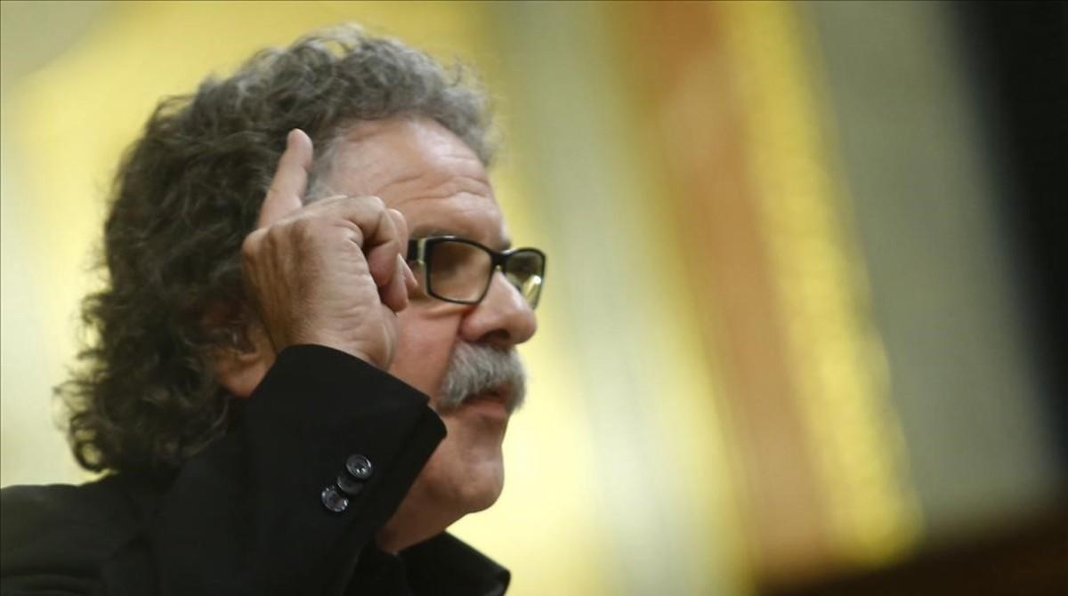Joan Tardà, durante el debate de investidura de Mariano Rajoy, el pasado octubre.