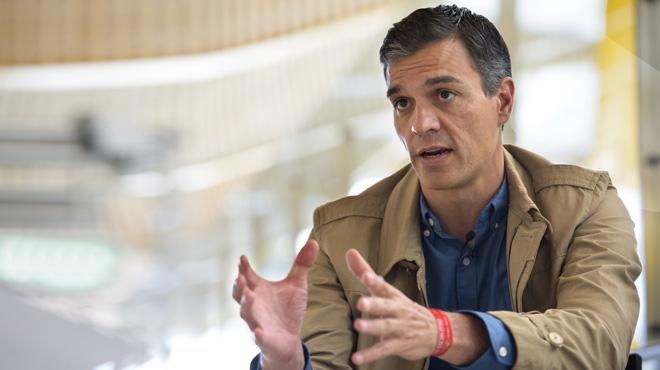 Entrevista a Pedro Sánchez, candidato en las primarias del PSOE