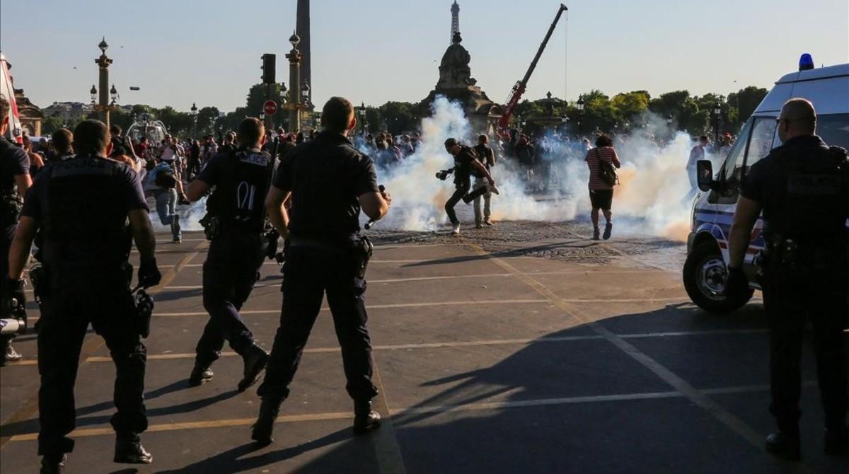 paris protestas reforma laboral macron