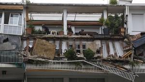 hundimiento balcon piso