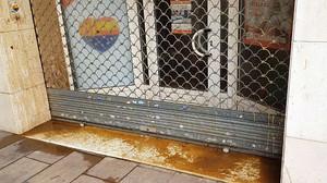 Ataque con excrementos contra la sede de Ciutadans en LHospitalet.