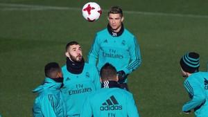 Entrenamiento del Madrid este miércoles en Valdebebas