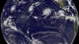 Insòlita formació de tres potents huracans al Pacífic