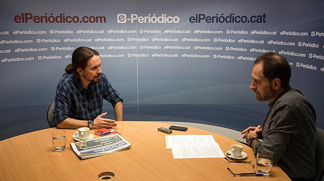 Entrevista con Pablo Iglesias, secretario general de Podemos.