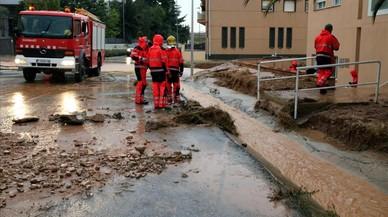 Les pluges descarreguen més de 100 litres a les Terres de l'Ebre