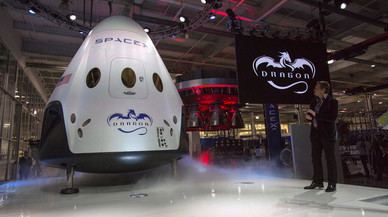 File Photo: SpaceX CEO Musk unveils the Dragon V2 spacecraft in Hawthorne