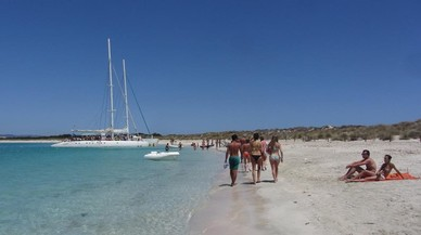 Una playa del islote de S'Empalmador.