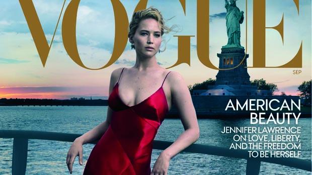 Jennifer Lawrence, quatre portades a 'Vogue'
