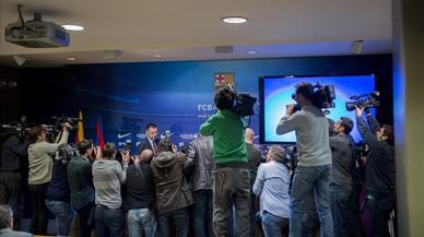 Josep Maria Bartomeu, en una comparecencia de prensa.