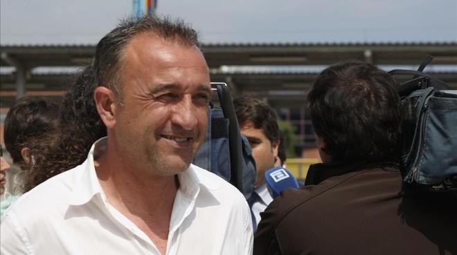 Juanele, a la salida de un juzgado de Gijón, en junio del 2015.