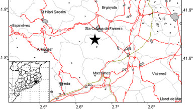 Un terremoto de magnitud 3 sacude La Selva sin causar daños