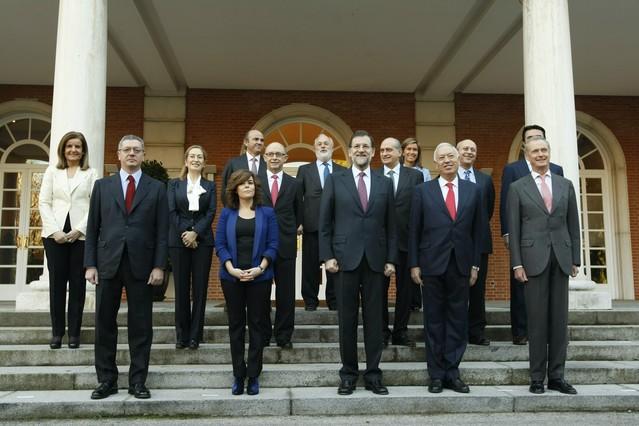 Rajoy preside hoy su primer consejo de ministros for Ministros del gobierno